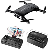 Foldable Quadcopter,Littleice FQ777 FQ05 6-Axis Gyro 2.0MP Wifi Fpv Drone Camera Selfie Foldable Quadcopter (black)