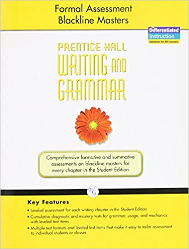 WRITING AND GRAMMAR 2008 FORMAL ASSESSMENT BLACKLINE MASTERS GRADE 6