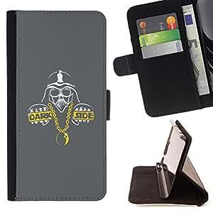"""For Sony Xperia M4 Aqua,S-type Espacio de Sci Fi Película Personaje Dark Side"""" - Dibujo PU billetera de cuero Funda Case Caso de la piel de la bolsa protectora"""