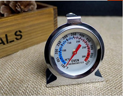 1pcs Stainless Steel Oven Thermometer stand Temperature Gauge Home Kitchen Food Meat Dial Dial Stainless Steel Meat Thermometer