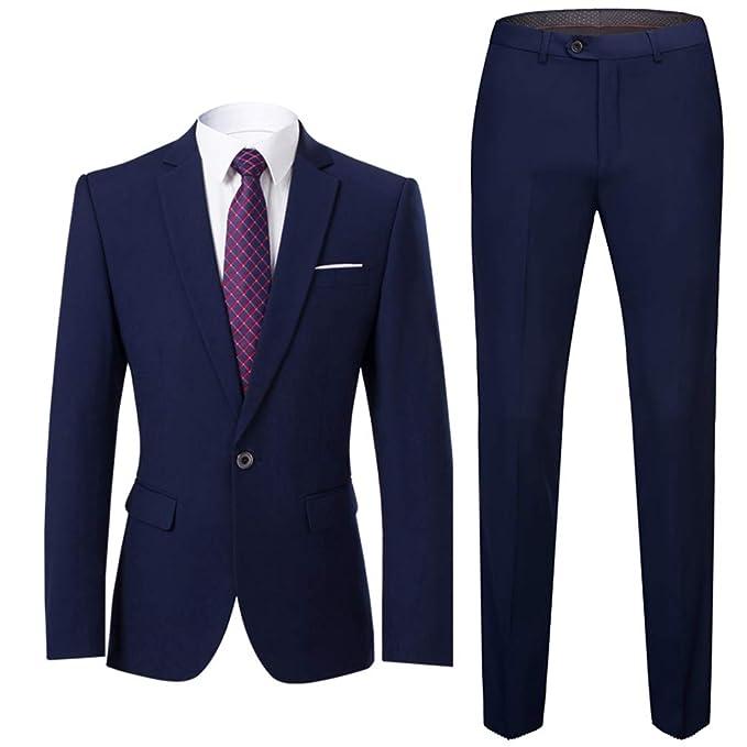 Suit Me Hombre Moderno Slim Fit de 2 Piezas para Hombre Blazer, Chaqueta Clasica, Esmoquin, Chaleco y Pantalones: Amazon.es: Ropa y accesorios