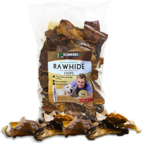 - Vet Recommended - Beef Rawhide Chips | Quality Rawhides for Dogs - Long Lasting Dog Chew - USA Beef (2-lb Bag)