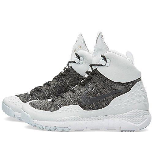 Mens Nike NikeLab Lupinek Flyknit ACG High Tops Boots 826077 (13, Black/Black-White)