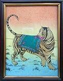 Tiger, Gem Stone Painting, Art & Craft of Jaipur, India