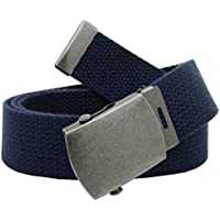 Boy's Cub Scout Uniform Belt with Flip Top Buckle and Adjustable Navy Web Belt Small