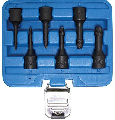 Spezial-Steckschl/üssel-Einsatz-Satz // Schraubenausdreher | SW 2-10 mm BGS 5281 10 mm 6-tlg. 3//8