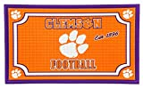 Team Sports America 41EM912 Embossed Door Mat-Clemson, Multicolor