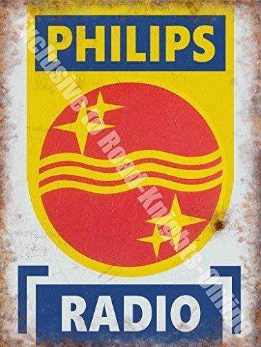 Philips Radio Retro Anuncio Electrónico Signo De Garaje ...