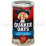 Quaker Oats 100% Natural Whole Grain Oatmeal Can, 18 Ounce (Pack of 12)