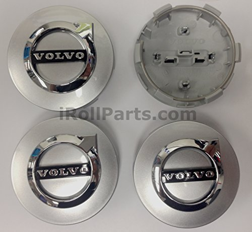 (Genuine Volvo Silver Wheel Cap Kit (Contains 4 caps) New Style)