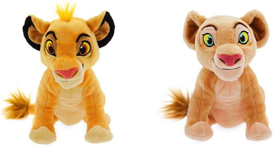 Disney Store Set de Peluche Pequeño Simba y Nala 18cm – El Rey León
