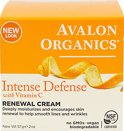 Avalon Organics Intense Defense with Vitamin C Renewal Cream, 2 Ounce (Vit C Face Cream compare prices)