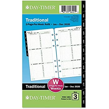 Amazon.com : Day-Timer 2020 Monthly Planner Refill, 3-3/4