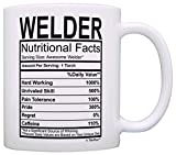 TIG Welder - Welder Gifts Welder Nutritional Facts Label Gag Gift Gift Coffee Mug Tea Cup White