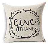 Personalized Give Thanks Thanksgiving Gifts. Perfect for decorating your room in a simple and natural way..