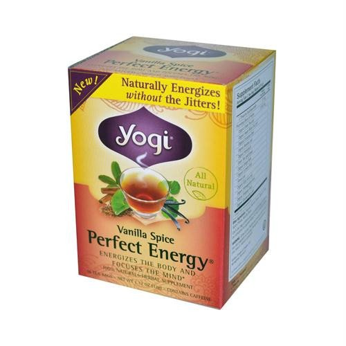 Yogi Perfect Energy Herbal Tea Bags Vanilla Spice
