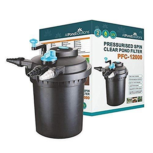 All Pond Solutions Pressurised Koi Fish Pond Filter and UV Steriliser for PFC,...