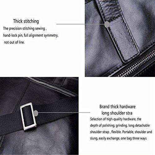 Echtes Leder Schultertasche Messenger Bag Schultertasche für Business Bag Vintage 17  Laptoptasche Satchel Handtaschen Convertible Herren Rucksack Cross Body Top-Griff Taschen f5LRLco
