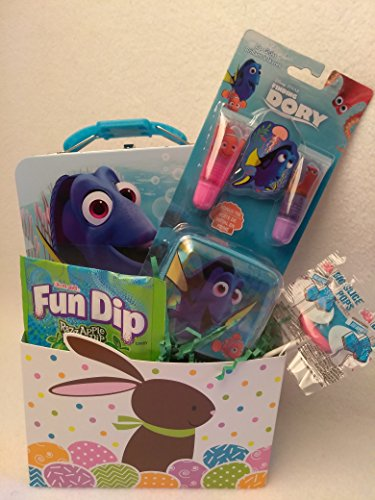 Happy Finding Dory Nemo Fun Easter Basket Kids Toddlers Gift Children Pre Made Eggs Goodies (Doc Brown Outfit)