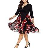 BOLUOYI Women's Chevron Print Summer Short Sleeve Plus Size Casual Maxi Dress Black