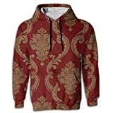 Paskcc Men's Hoodie Thin Hoody Oversized Egyptian Traditional Red Young and Reckless