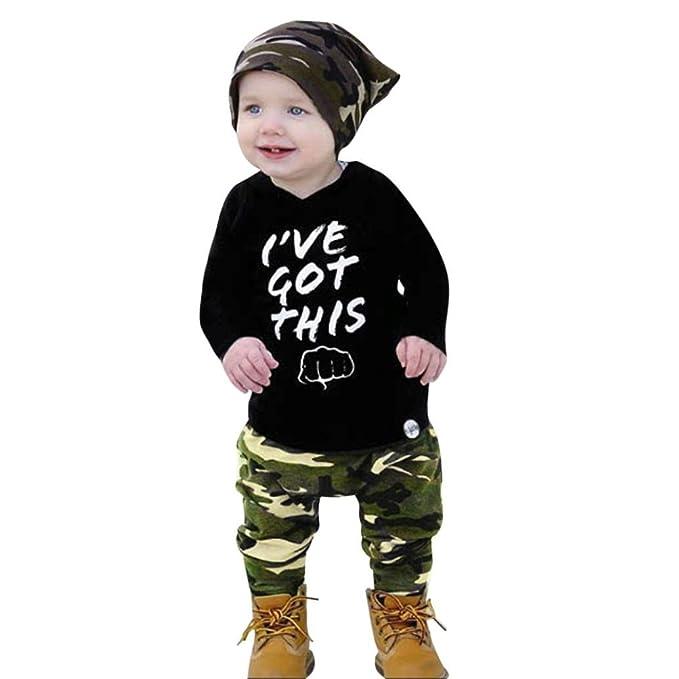 K-youth Ropa Bebe Recien Nacido Niño Otoño Invierno Camiseta de Manga Larga Sudaderas Niño