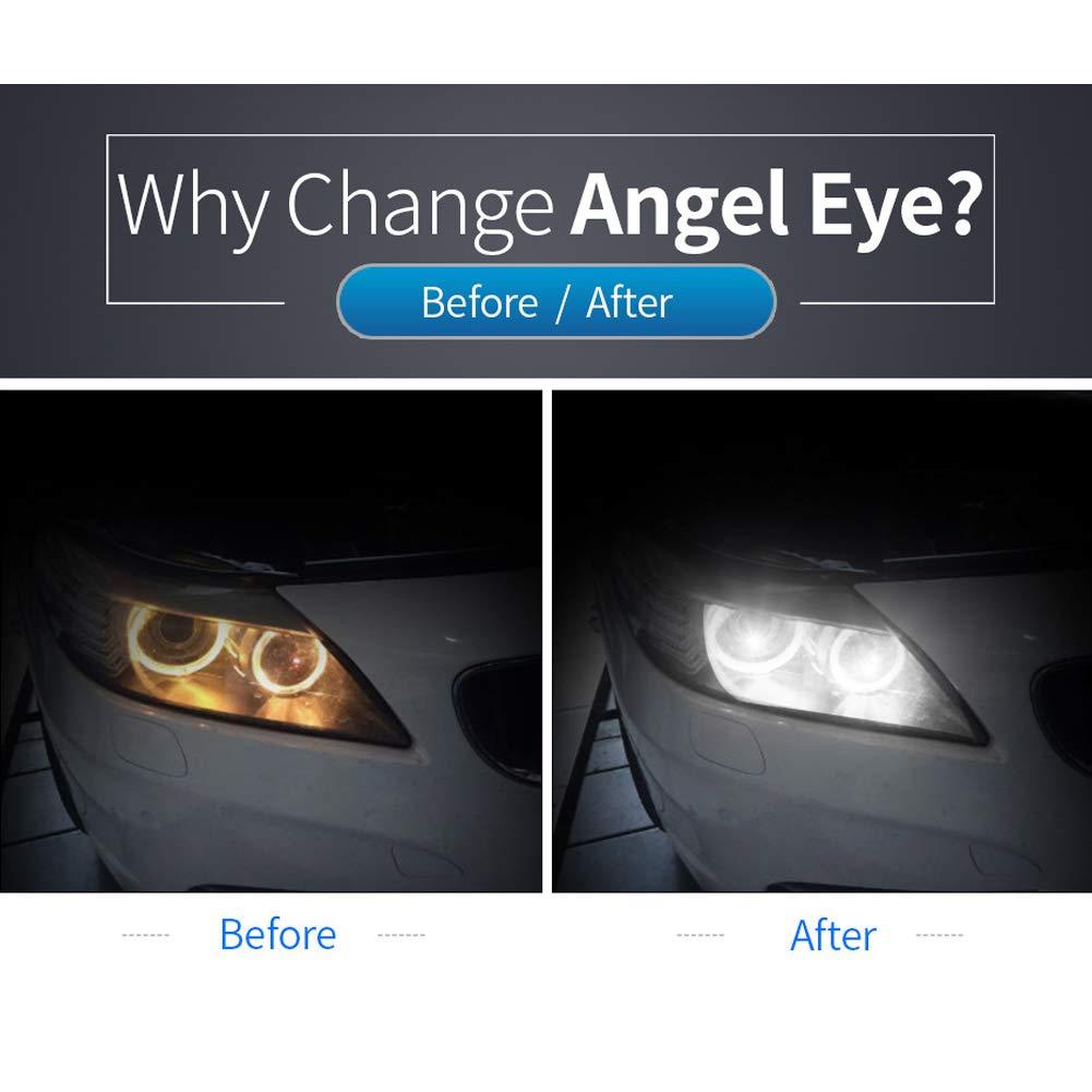 Amyove Angel Eyes F/ür BMW 3//5//7 Serie E92 E82 E93 Angel Eyes Lichter H8 120W 6 Seiten Angel Eyes Nebelscheinwerfer