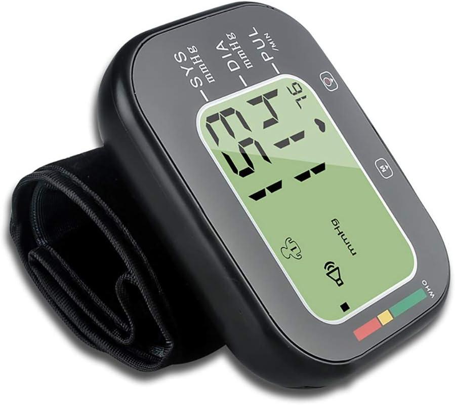 Tensiómetro de muñeca, Hogar/Medico Totalmente automático Presión Arterial y Detección de Pulso Arrítmico, con Voz