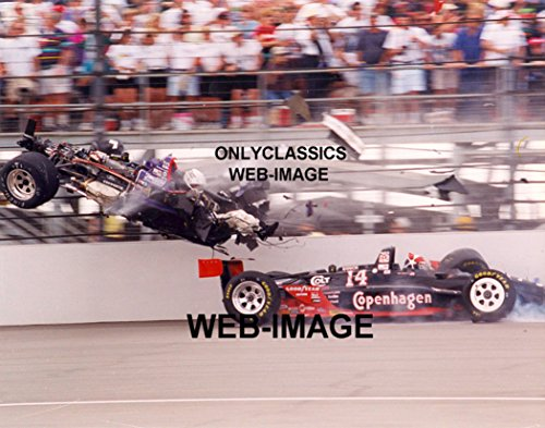 OnlyClassics 1995 Stan Fox AJ FOYT INDY 500 Wild Race Crash 8X10 Photo Indianapolis Speedway