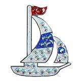 Navika–Marcador de Bola de Vidrio de Swarovski y Glitz de velero con Enganche para Gorra