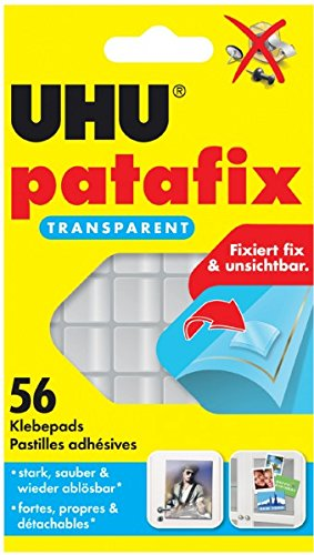 UHU 48815Pastilles adhésives patafix, repositionnable, transparent