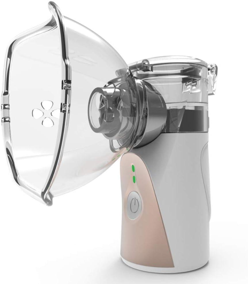 Symeas Mini máquina de nebulizador de mano Vaporizadores portátiles Humidificador compacto Pulverizador de niebla fría Inhalador de agua Sin ruido para viajes o uso diario en el hogar