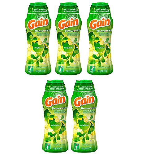Gain FvJws Fireworks In-Wash Scent Booster, Original, 26.5 Oz (5 Pack) by Gain
