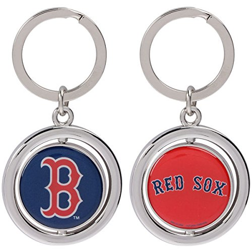 FOCO MLB Boston Red Sox Baseball Spinner Keychain, Red, One Size