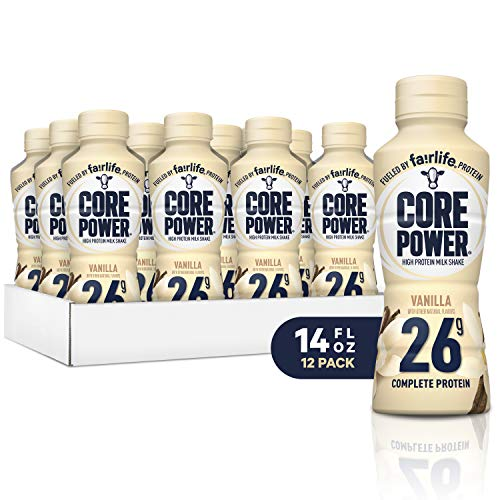 Core Power fairlife Core Power High Protein Milk Shake, Vanilla, 14 Ounce (Pack of 12) (Lean Body Rtd)