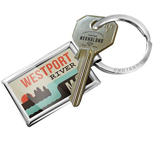 Keychain USA Rivers Westport River - Massachusetts - - Usa Westport