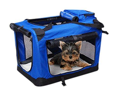 9 opinioni per Trasportino per Cani Gatti e Altri Animali Domestici 91x64x64 cm Blu