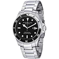 Stuhrling Original Men's 326B.331113 Aquadiver Regatta Elite Swiss Quartz Diver Date Watch