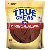 NATURAL BEEF SIRLOIN STEAK FILLET DOG CHEWS 12 OUNCES GRAIN FREE MADE IN USA (2 BAGS)