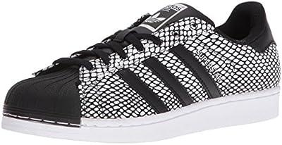 adidas Originals Men's Superstar Snake Pack Fashion Sneaker, Core Black/Core Black/White, 10 M US