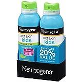 Neutrogena Wet Skin Kids Sunscreen Spray, Twin Pack