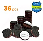 """FURNITURE GRIPPERS X-PROTECTOR – PREMIUM 36 pcs 1"""" Furniture Pad! Best Non Slip Furniture Pads Rubber Feet - Furniture Floor Protectors for Keep in Place Furniture & Furniture Stoppers"""