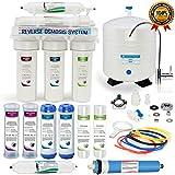 5-Stage USA sistema de ósmosis inversa filtro de agua - grifo NSF y el tanque más Extra de Set de filtros para libre