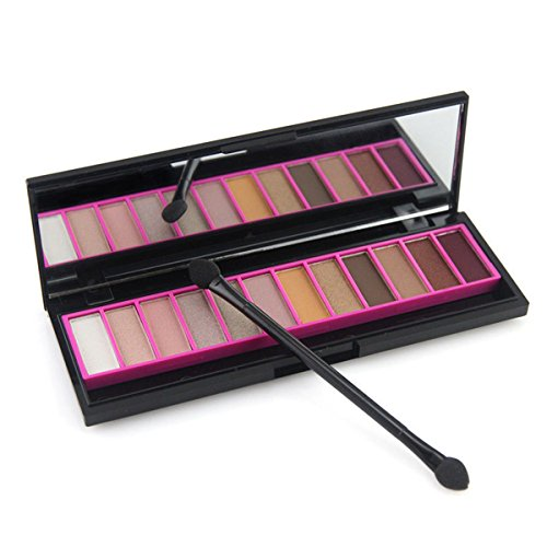 12 Colours Eye Shadow (Pure Vie Professional 12 Colors EyeShadow Palette Makeup Contouring Kit #1)