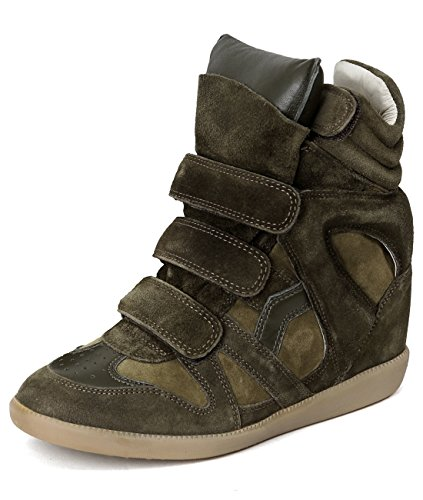 isabel-marant-womens-velcro-snap-high-top-leather-sneakers-38-olive