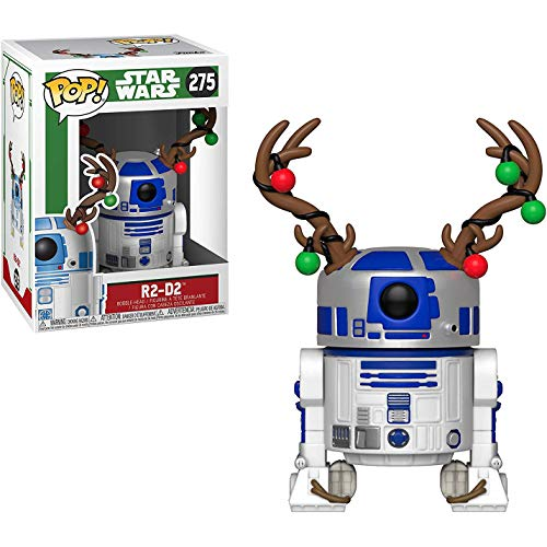 R2-D2: Star Wars Holiday x Funko POP! Vinyl Figure & 1 PET Plastic Graphical Protector Bundle [#275 / 33891 - B]