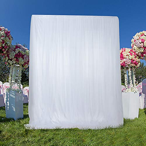 White Backdrop Curtains Parties Weddings Baby Shower Photography Backdrop Window Decorations