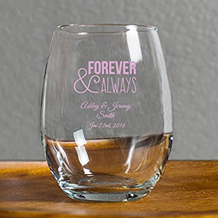 db78e9b135f 72 Pack Forever and Always Stemless Wine Glasses