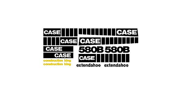 Whole Decal Set Fits Case 580B EXT Extendahoe Construction King Backhoe Loader