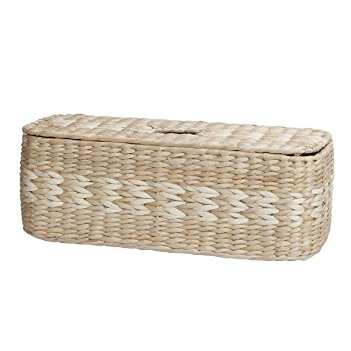 Natural Maize Storage Basket (Creative Bath Products Arcadia Collection 3-in-1 Tank Topper, Natural/Bleach)